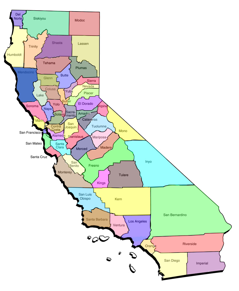 Law Guy County Bar Map - Ca map